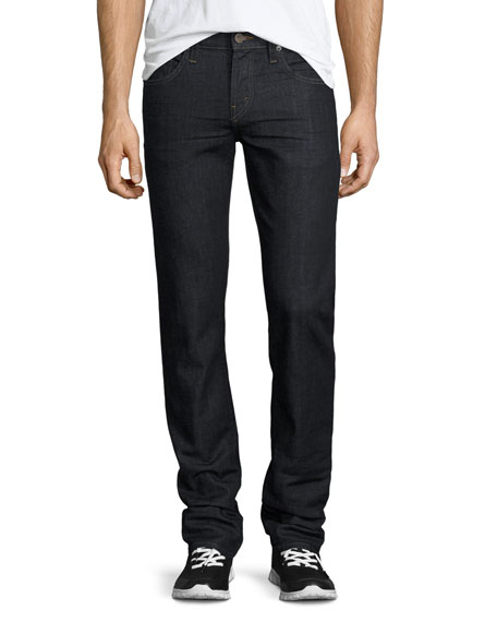 Kane Straight-Leg Denim Jeans, Dark Indigo