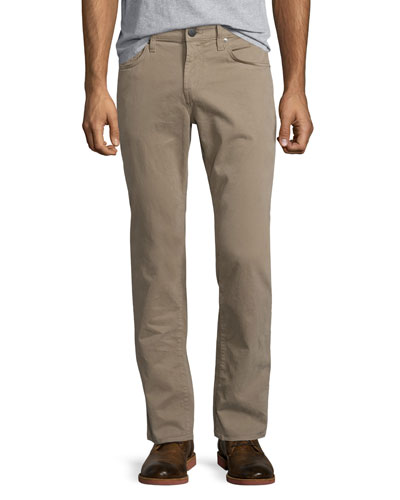 Kane Straight-Leg Twill Jeans, Grainseed
