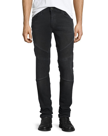 J Brand Bearden French Terry Moto Jeans, Cragmite