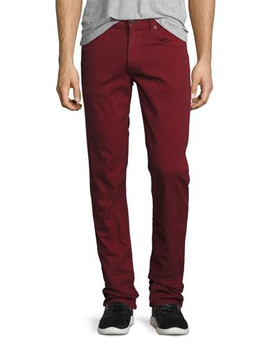 Tyler Slim-Straight Jeans, Cabernet
