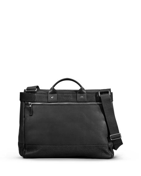 Men's Leather Flap-Top Messenger Bag