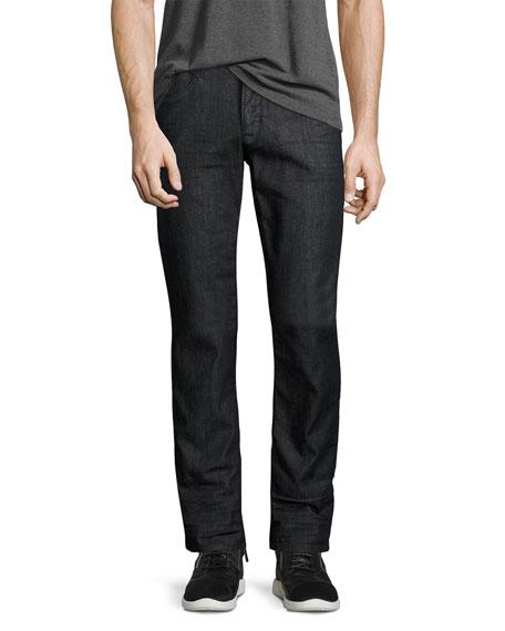 Hudson Byron Classic Straight-Leg Jeans, Caster (Dark Gray)