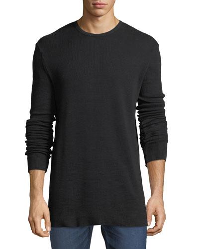 Waffle-Knit Thermal Shirt