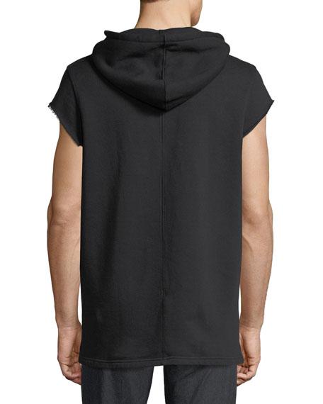 Men's Cutoff-Sleeve Pullover Hoodie