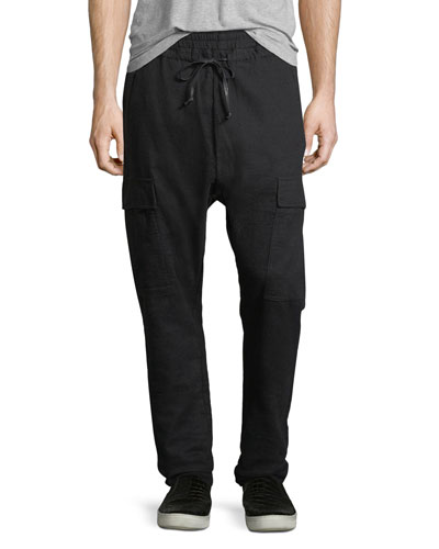 Maverick Slouchy Cargo Pants, Granite Black