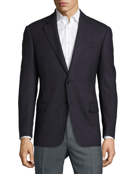 Armani Collezioni G-Line Birdseye Wool Two-Button Sport Coat,