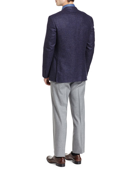 Tic Two-Button Sport Coat, Navy/Plum