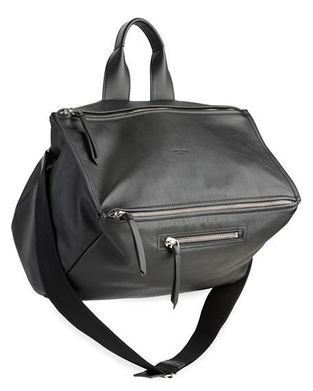 Givenchy Men's Pandora Leather Crossbody Bag, Black