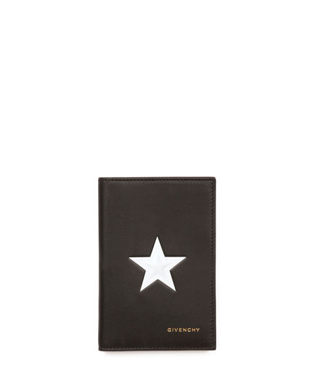 Star Bi-Fold Card Case, Black