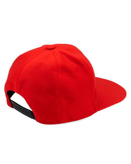 Logo Flat-Bill Hat, Red