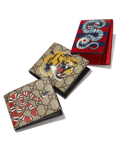 Gucci Bestiary Tiger Print Gg Supreme Wallet