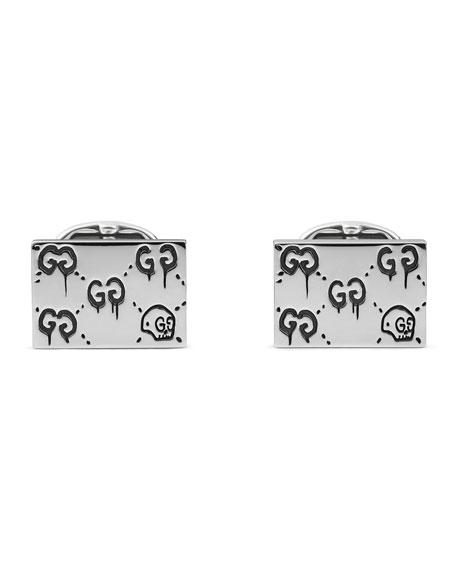 Gucci GucciGhost Cuff Links, Silver