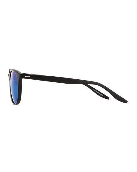 Men's Plimsoul Round Sunglasses, Black/Blue
