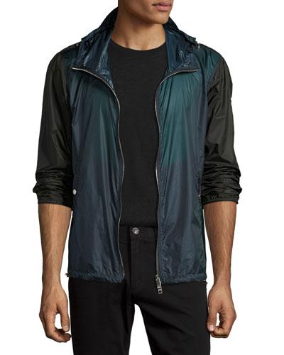 Hartland Colorblock Wind-Resistant Jacket, Blue