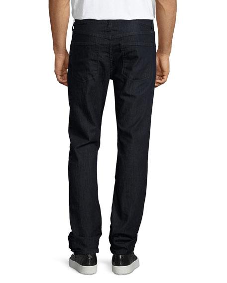 Kane Straight-Leg Raw Jeans, Hirsch
