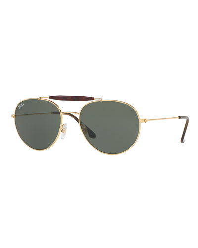 how to adjust ray ban aviator sunglasses  rb3540 highstreet aviator sunglasses, gold/green. set