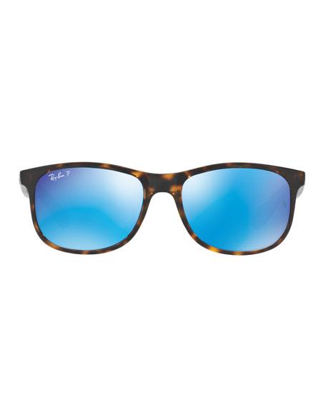 Andy Rectangular Polarized Flash Sunglasses