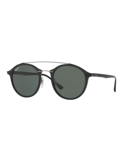 Ray-Ban Tech Light Ray Double-Bridge Sunglasses, Black