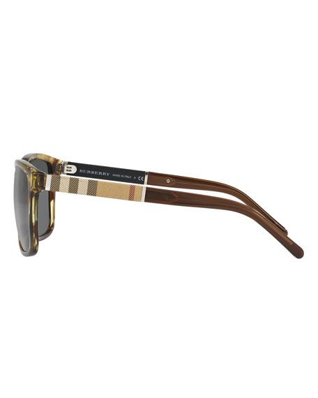 Men's Rectangular Heritage Check Sunglasses