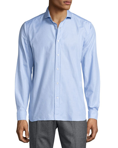 Puliti Long-Sleeve Woven Shirt, Blue