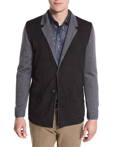 Marco Sweater Jacket, Charcoal