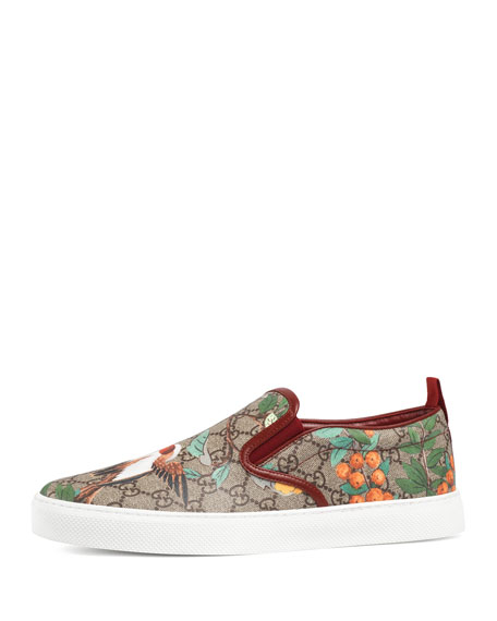 Gucci Dublin Tian GG Supreme Slip-On Sneaker, Multicolor