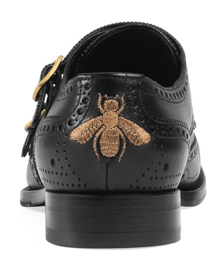 Queercore Brogue Monk Shoe, Black
