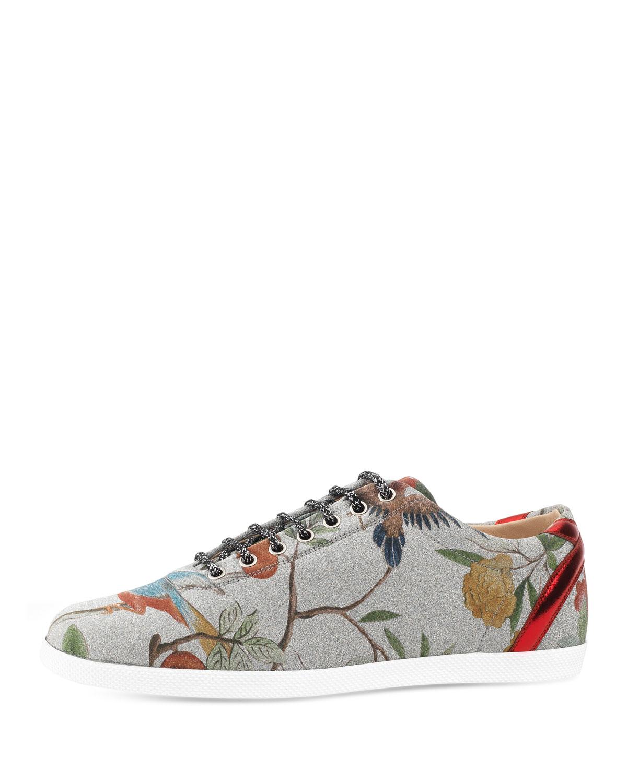2e77c8462fb Gucci Bambi Tian Glitter Low-Top Sneaker