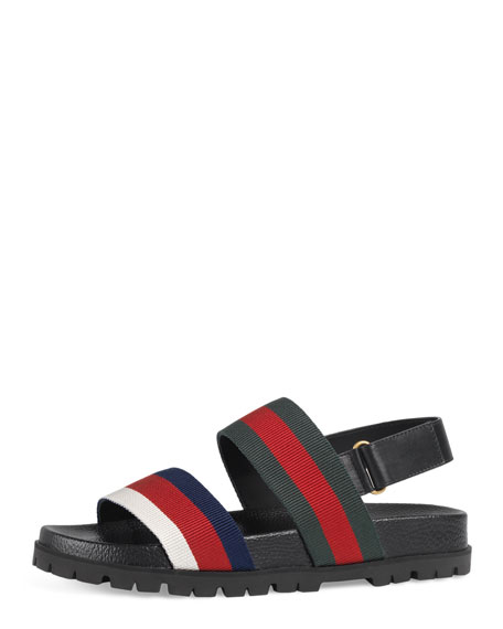 Gucci Rimini Double-Strap Sandal, Multicolor
