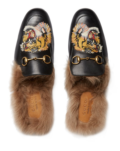 Princetown fur slippers Gucci