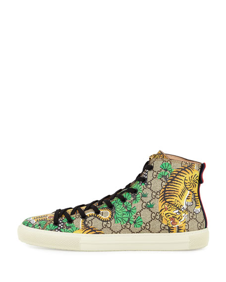 Bengal Canvas High-Top Sneaker, Multicolor