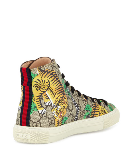Gucci Bengal Canvas High-Top Sneaker
