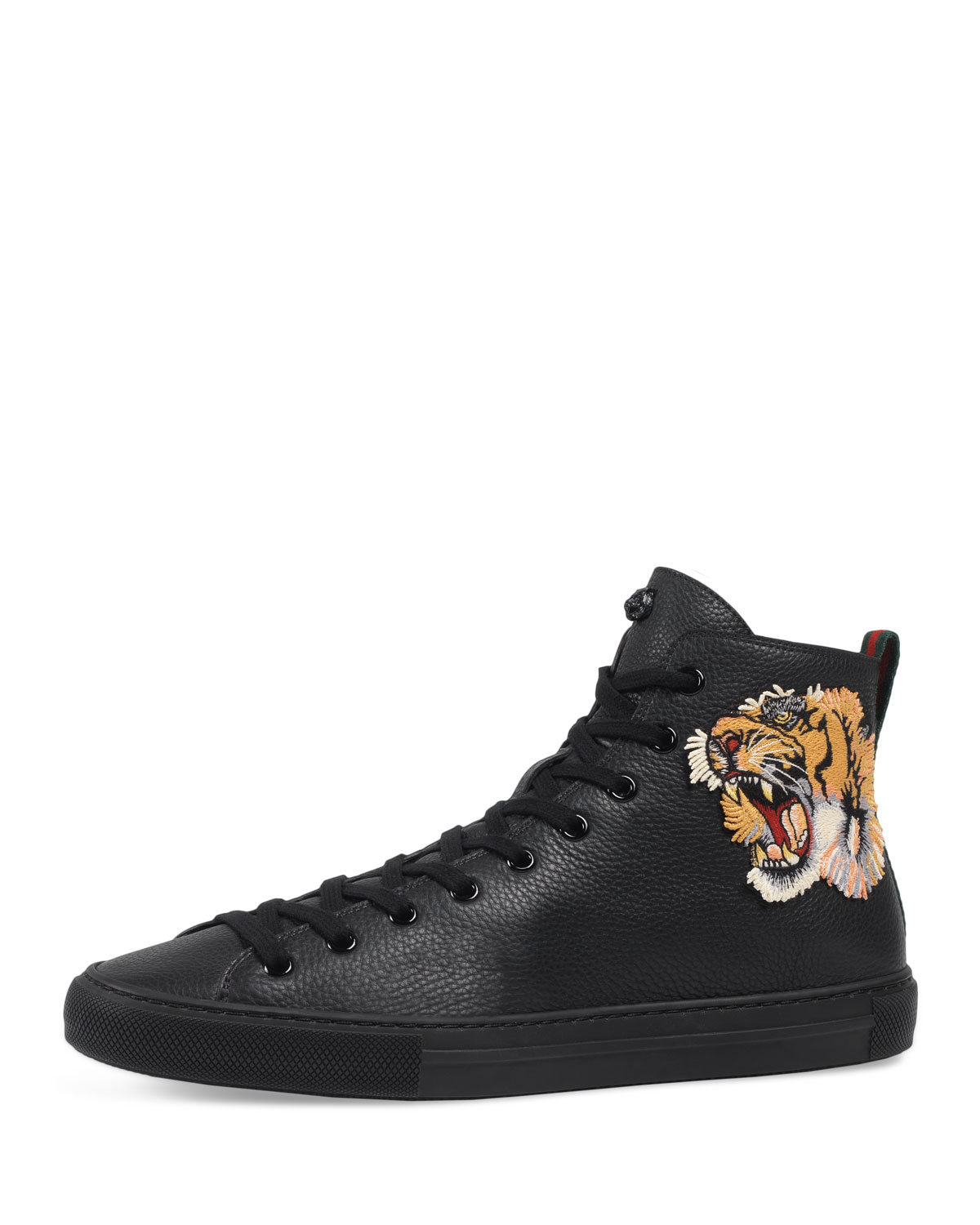 82e6c257471 Gucci Men s Major High-Top Sneakers w Tiger Patch