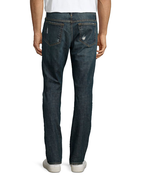 L'Homme Straight-Leg Distressed Jeans, Davis