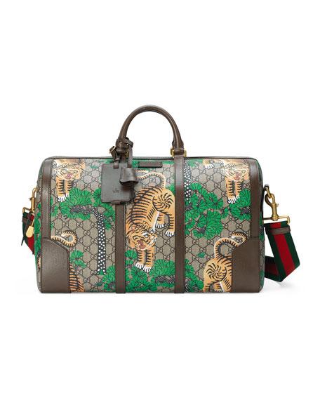 Gucci Bengal GG Supreme Duffle Bag, Beige