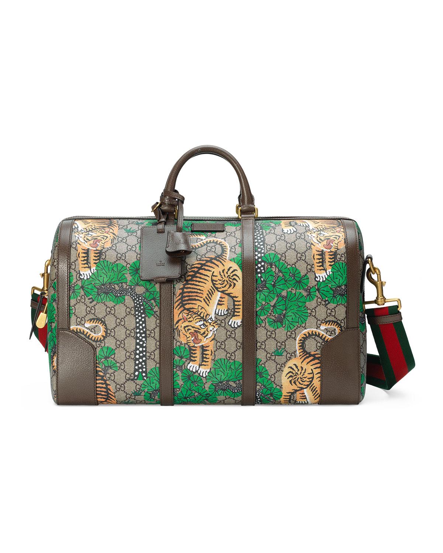 5679de17ea4a Gucci Bengal GG Supreme Duffel Bag