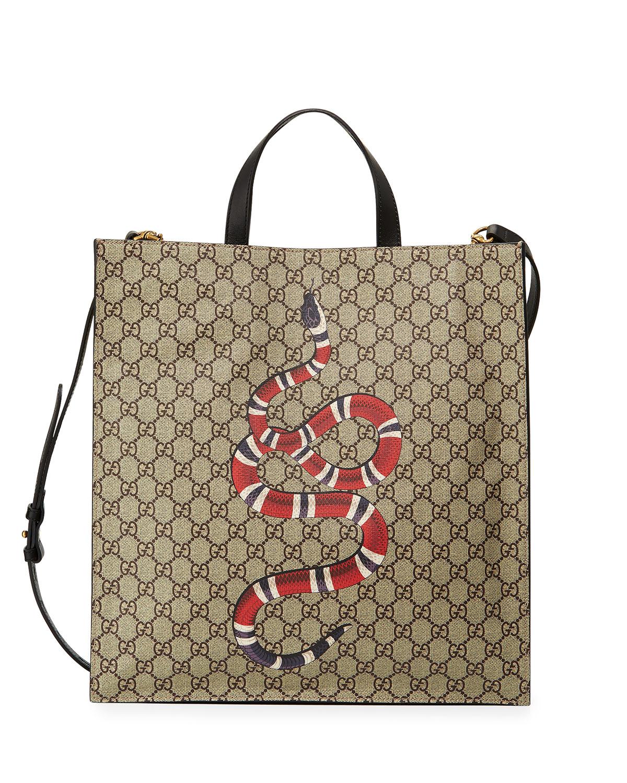 0d426a900fc Gucci Snake GG Supreme Soft Tote Bag