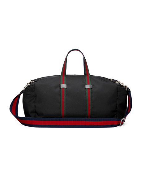 Technical Canvas Duffel Bag, Black