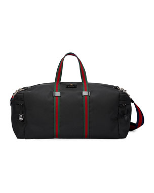 28fb3b01919a Men s Original Visetos Mini Card Case.  140 · Gucci Technical Canvas Duffel  Bag
