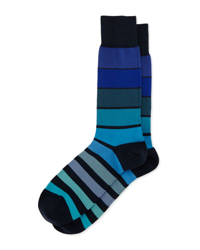 Grad Colorblock Socks, Navy