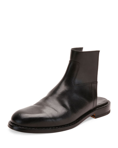 Maison Margiela Leather Cutout Boot Sandal, Black