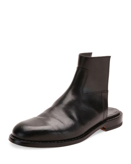 Maison Margiela Leather Cutout Boot Sandal, Black