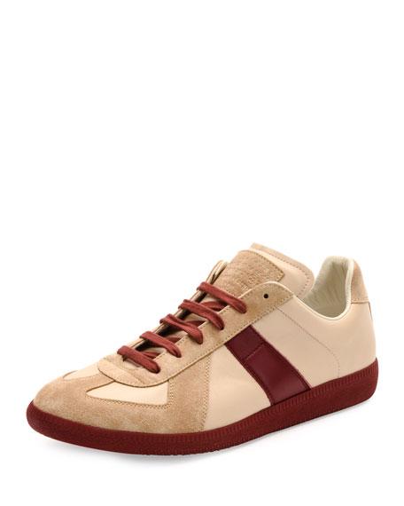 Maison Margiela Replica Low-Top Leather & Suede Sneaker,