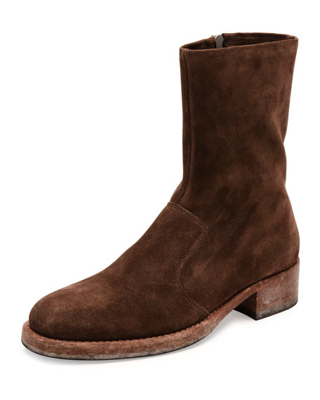 Maison Margiela Suede Campus Boot, Brown
