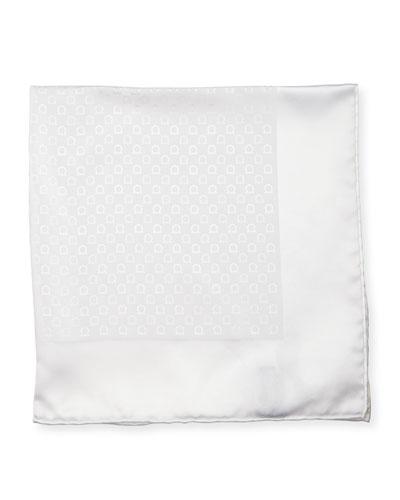 Gancini Pocket Square, White