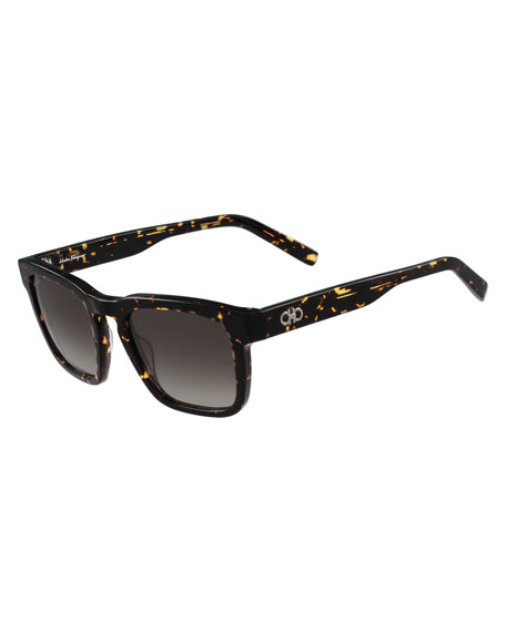 Men's Gancini Square Acetate Sunglasses