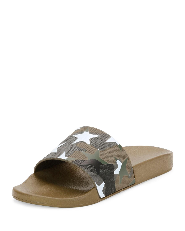 Valentino Garavani Men's Camustars Rubber Slide Sandal ...