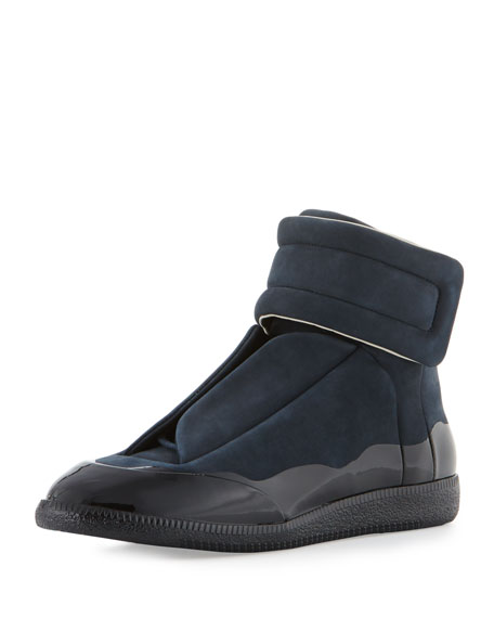Maison Margiela Men's Dipped Suede Future High-Top Sneaker,