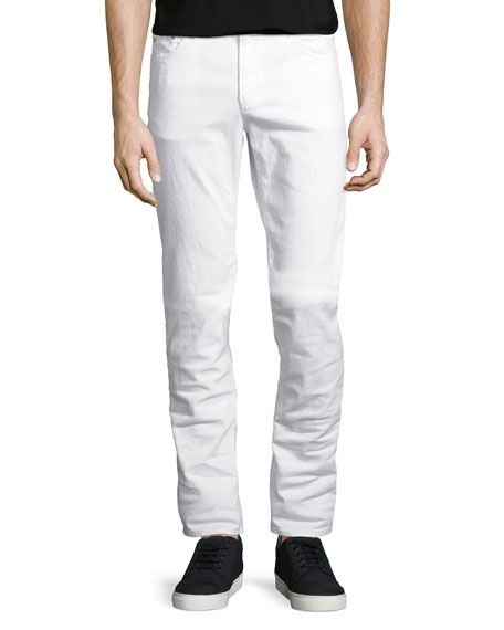 Michael Kors Slim-Fit Stretch-Denim Jeans, White