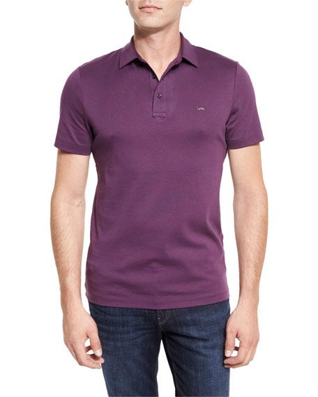 Michael Kors Sleek MK Polo Shirt, Blackberry